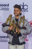 2016 Billboard Music Awards. LAS VEGAS - MAY 22 : Recording artist The Weeknd poses in the press room at the 2016 Billboard Music Awards at T-Mobile Arena on May Stock Image