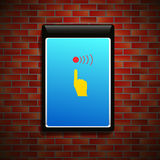 Billboard na ścianie Zdjęcie Royalty Free