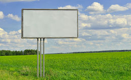 Billboard on nature background Royalty Free Stock Images