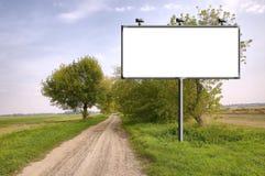 Billboard Near The Dirtyroad Stock Photo