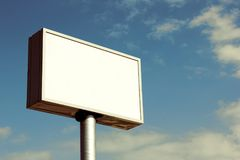 Billboard. With a nice background Royalty Free Stock Photos