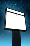 Billboard at night. Photo of a big blank billboard against a starry sky at night royalty free stock photography