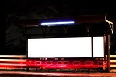 Billboard in night Stock Photos