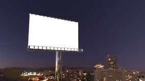 Billboard in night city Stock Image