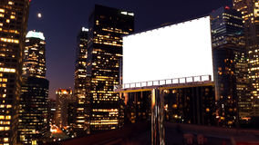 Billboard in night city Royalty Free Stock Photo