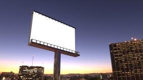 Billboard in night city Stock Photo
