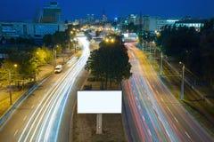 Billboard in the night city Stock Image