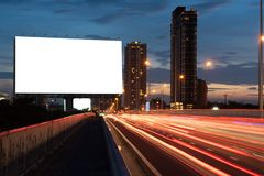 Billboard night or outdoor advertising royalty free stock photos