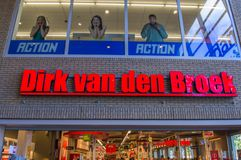 Billboard Od Dirk Van Melina Broek Przy Amsterdam holandie 2018 obrazy stock