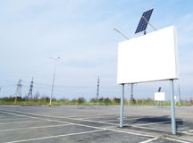 Free Billboard On Parking With Solar Panel Stock Photo - 95297030