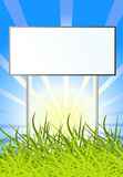 Billboard On Sun Nature Background Stock Photography