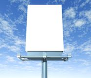Billboard  outdoor display with sky Stock Photos