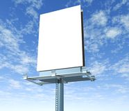 Billboard  outdoor display with sky Royalty Free Stock Image
