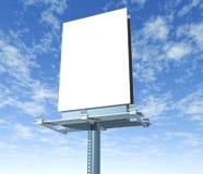 Billboard outdoor display with sky. Billboard vertical outdoor display with sky background stock illustration