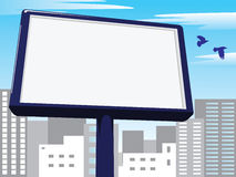 Billboard over city Stock Photos