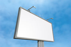 Billboard over sky. Huge billboard with copy-space under wide angle view royalty free stock photography