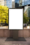 Billboard in Paris. Blank advertising billboard in a place in paris Royalty Free Stock Photography