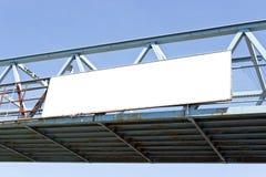 Billboard on pedestrian bridge Royalty Free Stock Photos