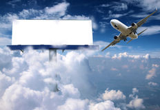 Billboard with plane Royalty Free Stock Photography