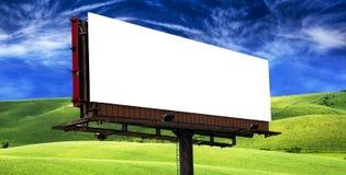 Billboard pod niebieskim niebem Fotografia Royalty Free