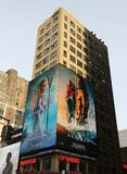 Billboard promoting new Aquaman superhero film based on the DC Comics character of the same name, distributed by Warner Bros. NEW YORK - DECEMBER 6, 2018 stock photography