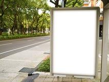 billboard przerwa pusta autobusowa zdjęcie stock
