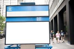 Billboard przy metra wejściem Fotografia Royalty Free