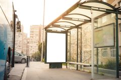 Billboard przy przystankiem autobusowym Obraz Stock