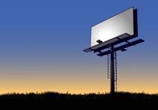 Billboard przy świtem Zdjęcia Stock