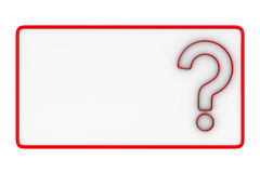 Billboard with question on white background. Isolated 3D. Image Royalty Free Stock Image