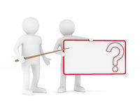 Billboard with question on white background. Isolated 3D. Image Stock Photos