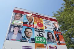 Billboard for the recent Dutch elections Stock Photo