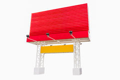 Billboard red color on white isolate background. Royalty Free Stock Images