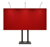 Billboard, red, isolated on white. Billboard, red, front view, isolated on white with clipping path Royalty Free Stock Photography