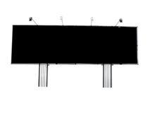 Billboard reklamy panel z pustą przestrzenią i lekkim projektorem Zdjęcie Royalty Free