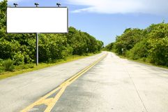 Billboard on road Royalty Free Stock Photo