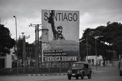 Billboard in Santiago de Cuba Stock Photography