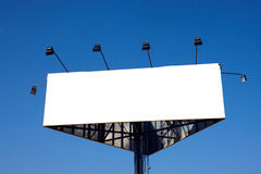 Billboard sign. With sky as a background and white space ready to enter text royalty free stock photography