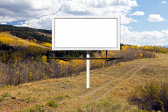 Billboard Sign Along Mountain Dirt Trail Stock Photos