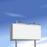 Billboard sign high on blue sky background Stock Photo