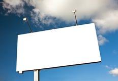 Billboard on sky Royalty Free Stock Image