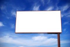 Billboard on sky Stock Images