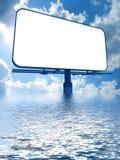 Billboard on a sky background Stock Image