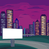 Billboard and skyscrapers Royalty Free Stock Photo