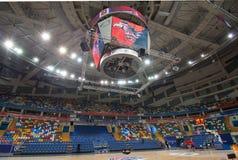 Billboard of Sport arena Megasport, Moscow, Russia stock photos