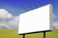 Billboard in Spring Landscape Royalty Free Stock Photo