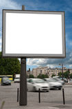 Billboard in the street Royalty Free Stock Photography