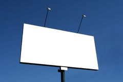 Billboard on street on backgro Royalty Free Stock Photos