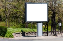 Billboard on street. Blank billboard on the street royalty free stock images