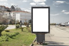 Billboard on street. In sunny / Turkey-Istanbul royalty free stock images